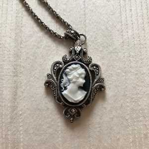 Judith Jack classic silver black cameo marcasite